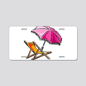 BEACH CHAIR [3] Aluminum License Plate